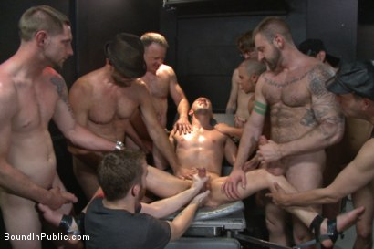 Photo number 10 from Giant cock whored out to the horny public shot for Bound in Public on Kink.com. Featuring Aleks Buldocek, Kirk Cummings and Dominic Pacifico in hardcore BDSM & Fetish porn.