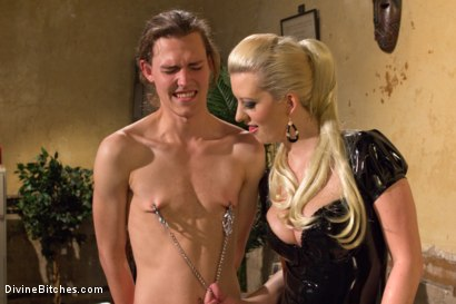 Photo number 5 from If you don't keep your hands off your cock I will do it for you! shot for Divine Bitches on Kink.com. Featuring Cherry Torn and Garett Nova in hardcore BDSM & Fetish porn.