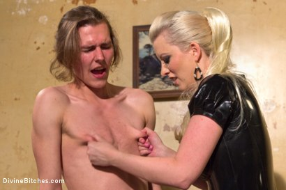 Photo number 2 from If you don't keep your hands off your cock I will do it for you! shot for Divine Bitches on Kink.com. Featuring Cherry Torn and Garett Nova in hardcore BDSM & Fetish porn.