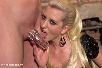Photo number 3 from If you don't keep your hands off your cock I will do it for you! shot for Divine Bitches on Kink.com. Featuring Cherry Torn and Garett Nova in hardcore BDSM & Fetish porn.