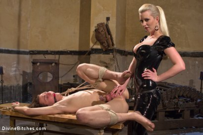 Photo number 10 from If you don't keep your hands off your cock I will do it for you! shot for Divine Bitches on Kink.com. Featuring Cherry Torn and Garett Nova in hardcore BDSM & Fetish porn.