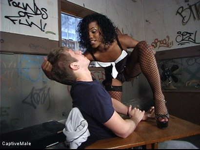 Photo number 2 from Sex Miss Capri's Way shot for Captive Male on Kink.com. Featuring Sydnee Capri and Danny Wylde in hardcore BDSM & Fetish porn.
