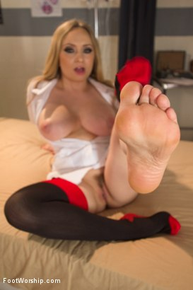 Photo number 2 from Naughty Foot Nurses: Part 2 shot for Foot Worship on Kink.com. Featuring Dylan Ryan and Aiden Starr in hardcore BDSM & Fetish porn.