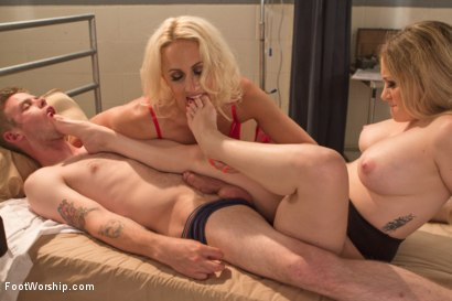 Photo number 13 from Naughty Foot Nurses: Part One shot for Foot Worship on Kink.com. Featuring Dylan Ryan, Aiden Starr and Cliff Adams in hardcore BDSM & Fetish porn.