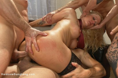 Photo number 9 from Slut Wife Gets Slammed into Subspace shot for Hardcore Gangbang on Kink.com. Featuring John Strong, Tommy Pistol, Owen Gray, Bill Bailey, Ramon Nomar and Holly Heart in hardcore BDSM & Fetish porn.