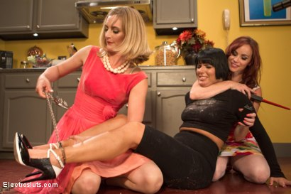 Photo number 12 from Stepford Wives: A Shock Sploshing Parody shot for Electro Sluts on Kink.com. Featuring Bella Rossi, Rose Rhapsody and Mona Wales in hardcore BDSM & Fetish porn.