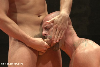 """Photo number 9 from Eli """"The Hammer"""" Hunter vs Mitch """"The Machine"""" Vaughn shot for Naked Kombat on Kink.com. Featuring Eli Hunter and Mitch Vaughn in hardcore BDSM & Fetish porn."""
