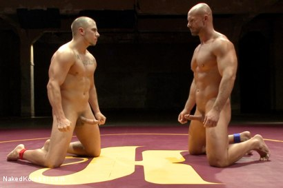 """Photo number 15 from Eli """"The Hammer"""" Hunter vs Mitch """"The Machine"""" Vaughn shot for Naked Kombat on Kink.com. Featuring Eli Hunter and Mitch Vaughn in hardcore BDSM & Fetish porn."""
