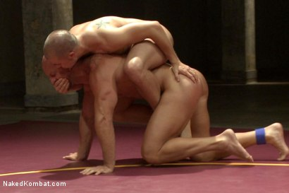"""Photo number 11 from Eli """"The Hammer"""" Hunter vs Mitch """"The Machine"""" Vaughn shot for Naked Kombat on Kink.com. Featuring Eli Hunter and Mitch Vaughn in hardcore BDSM & Fetish porn."""
