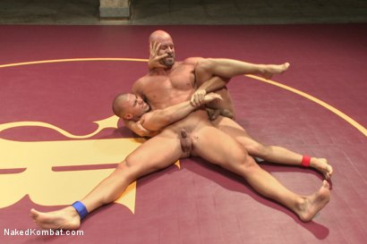 """Photo number 4 from Eli """"The Hammer"""" Hunter vs Mitch """"The Machine"""" Vaughn shot for Naked Kombat on Kink.com. Featuring Eli Hunter and Mitch Vaughn in hardcore BDSM & Fetish porn."""