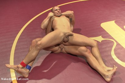 """Photo number 8 from Eli """"The Hammer"""" Hunter vs Mitch """"The Machine"""" Vaughn shot for Naked Kombat on Kink.com. Featuring Eli Hunter and Mitch Vaughn in hardcore BDSM & Fetish porn."""