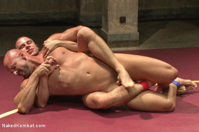 """Photo number 6 from Eli """"The Hammer"""" Hunter vs Mitch """"The Machine"""" Vaughn shot for Naked Kombat on Kink.com. Featuring Eli Hunter and Mitch Vaughn in hardcore BDSM & Fetish porn."""