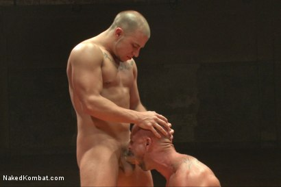 """Photo number 10 from Eli """"The Hammer"""" Hunter vs Mitch """"The Machine"""" Vaughn shot for Naked Kombat on Kink.com. Featuring Eli Hunter and Mitch Vaughn in hardcore BDSM & Fetish porn."""