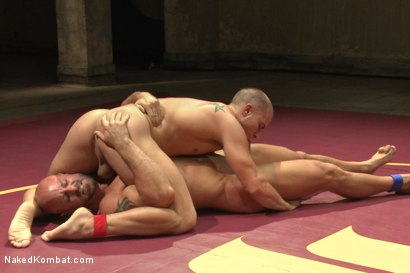 """Photo number 7 from Eli """"The Hammer"""" Hunter vs Mitch """"The Machine"""" Vaughn shot for Naked Kombat on Kink.com. Featuring Eli Hunter and Mitch Vaughn in hardcore BDSM & Fetish porn."""