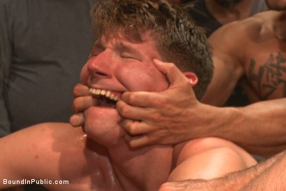 Photo number 6 from Foot sucking whore humiliated & gang fucked in a bar full of horny men shot for Bound in Public on Kink.com. Featuring Dakota Wolfe and Brock Avery in hardcore BDSM & Fetish porn.