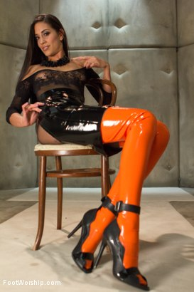 Photo number 2 from Foot Humiliation, Trampling and Latex shot for Foot Worship on Kink.com. Featuring Lyla Storm and Owen Gray in hardcore BDSM & Fetish porn.