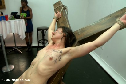 Photo number 14 from First ever porn shoot- amateur cutie takes it all! shot for Public Disgrace on Kink.com. Featuring Amy Faye, John Strong and Ariel X in hardcore BDSM & Fetish porn.