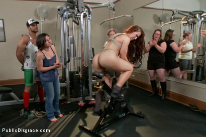 Photo number 13 from Too Swoll to Control: Cheyenne Jewel brought to her knees! shot for Public Disgrace on Kink.com. Featuring Xander Corvus, Cheyenne Jewel and Ariel X in hardcore BDSM & Fetish porn.