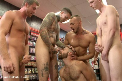 Photo number 12 from Beard full of cum - Bound stud fucked with machines and cock alike! shot for Bound in Public on Kink.com. Featuring Connor Maguire, Jessie Colter and Seth Fisher in hardcore BDSM & Fetish porn.