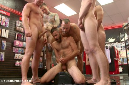 Photo number 10 from Beard full of cum - Bound stud fucked with machines and cock alike! shot for Bound in Public on Kink.com. Featuring Connor Maguire, Jessie Colter and Seth Fisher in hardcore BDSM & Fetish porn.
