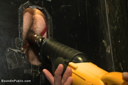 Photo number 7 from Beard full of cum - Bound stud fucked with machines and cock alike! shot for Bound in Public on Kink.com. Featuring Connor Maguire, Jessie Colter and Seth Fisher in hardcore BDSM & Fetish porn.