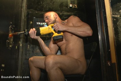 Photo number 8 from Beard full of cum - Bound stud fucked with machines and cock alike! shot for Bound in Public on Kink.com. Featuring Connor Maguire, Jessie Colter and Seth Fisher in hardcore BDSM & Fetish porn.