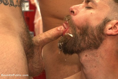 Photo number 13 from Beard full of cum - Bound stud fucked with machines and cock alike! shot for Bound in Public on Kink.com. Featuring Connor Maguire, Jessie Colter and Seth Fisher in hardcore BDSM & Fetish porn.