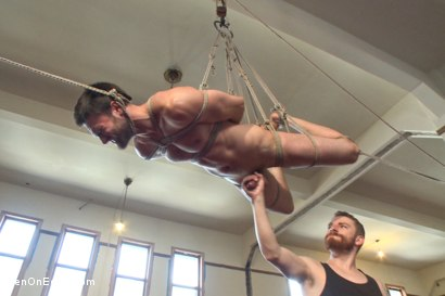 Photo number 8 from Hot bi hunk's first time being bound and edged shot for Men On Edge on Kink.com. Featuring Abel Archer in hardcore BDSM & Fetish porn.
