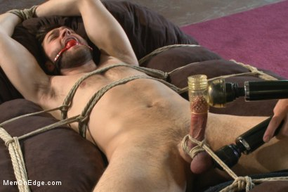 Photo number 10 from Hot bi hunk's first time being bound and edged shot for Men On Edge on Kink.com. Featuring Abel Archer in hardcore BDSM & Fetish porn.