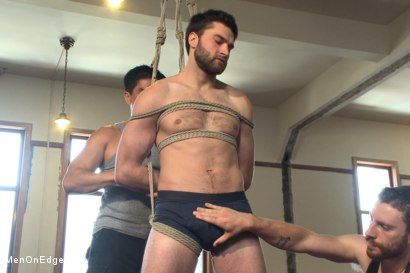 Photo number 1 from Hot bi hunk's first time being bound and edged shot for Men On Edge on Kink.com. Featuring Abel Archer in hardcore BDSM & Fetish porn.