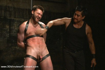Photo number 7 from Bi jock with no BDSM experience gets tormented to the extreme shot for 30 Minutes of Torment on Kink.com. Featuring Abel Archer in hardcore BDSM & Fetish porn.