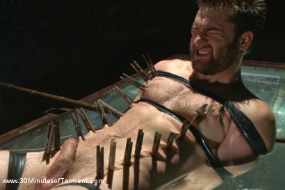 Photo number 11 from Bi jock with no BDSM experience gets tormented to the extreme shot for 30 Minutes of Torment on Kink.com. Featuring Abel Archer in hardcore BDSM & Fetish porn.