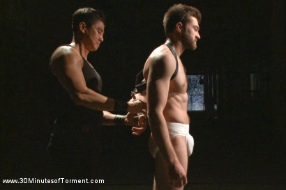Photo number 1 from Bi jock with no BDSM experience gets tormented to the extreme shot for 30 Minutes of Torment on Kink.com. Featuring Abel Archer in hardcore BDSM & Fetish porn.