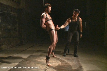 Photo number 8 from Bi jock with no BDSM experience gets tormented to the extreme shot for 30 Minutes of Torment on Kink.com. Featuring Abel Archer in hardcore BDSM & Fetish porn.