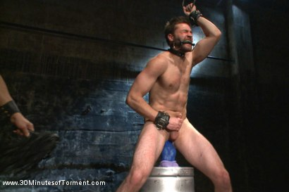 Photo number 13 from Bi jock with no BDSM experience gets tormented to the extreme shot for 30 Minutes of Torment on Kink.com. Featuring Abel Archer in hardcore BDSM & Fetish porn.