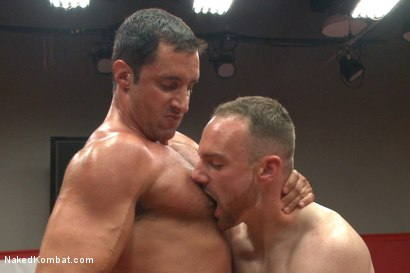 "Photo number 9 from Nick ""The Contender"" Capra vs Jimmy ""The Bulldozer"" Bullet shot for Naked Kombat on Kink.com. Featuring Jimmy Bullet and Nick Capra in hardcore BDSM & Fetish porn."