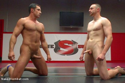 "Photo number 15 from Nick ""The Contender"" Capra vs Jimmy ""The Bulldozer"" Bullet shot for Naked Kombat on Kink.com. Featuring Jimmy Bullet and Nick Capra in hardcore BDSM & Fetish porn."