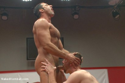 "Photo number 8 from Nick ""The Contender"" Capra vs Jimmy ""The Bulldozer"" Bullet shot for Naked Kombat on Kink.com. Featuring Jimmy Bullet and Nick Capra in hardcore BDSM & Fetish porn."