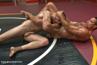 "Photo number 7 from Nick ""The Contender"" Capra vs Jimmy ""The Bulldozer"" Bullet shot for Naked Kombat on Kink.com. Featuring Jimmy Bullet and Nick Capra in hardcore BDSM & Fetish porn."