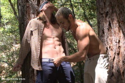 Photo number 3 from The Cabin Series #1 - The Best Friend's Son shot for Bound Gods on Kink.com. Featuring Brock Avery, Kip Johnson and Tatum in hardcore BDSM & Fetish porn.