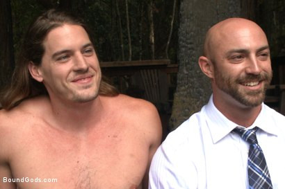 Photo number 15 from The Cabin Series #1 - The Best Friend's Son shot for Bound Gods on Kink.com. Featuring Brock Avery, Kip Johnson and Tatum in hardcore BDSM & Fetish porn.