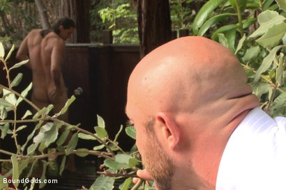 Photo number 1 from The Cabin Series #1 - The Best Friend's Son shot for Bound Gods on Kink.com. Featuring Brock Avery, Kip Johnson and Tatum in hardcore BDSM & Fetish porn.