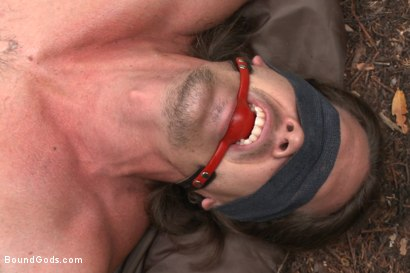 Photo number 13 from The Cabin Series #1 - The Best Friend's Son shot for Bound Gods on Kink.com. Featuring Brock Avery, Kip Johnson and Tatum in hardcore BDSM & Fetish porn.