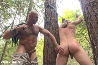Photo number 6 from The Cabin Series #1 - The Best Friend's Son shot for Bound Gods on Kink.com. Featuring Brock Avery, Kip Johnson and Tatum in hardcore BDSM & Fetish porn.