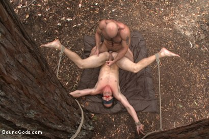 Photo number 9 from The Cabin Series #1 - The Best Friend's Son shot for Bound Gods on Kink.com. Featuring Brock Avery, Kip Johnson and Tatum in hardcore BDSM & Fetish porn.