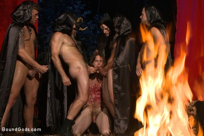 Photo number 12 from The Cabin Series #2 - The Red Moon Festival  shot for Bound Gods on Kink.com. Featuring Kip Johnson and Tatum in hardcore BDSM & Fetish porn.