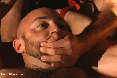 Photo number 7 from The Cabin Series #2 - The Red Moon Festival  shot for Bound Gods on Kink.com. Featuring Kip Johnson and Tatum in hardcore BDSM & Fetish porn.
