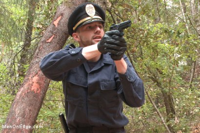 Photo number 2 from Officer Bullet - Ass fucked and edged in the middle of the woods shot for Men On Edge on Kink.com. Featuring Jimmy Bullet in hardcore BDSM & Fetish porn.