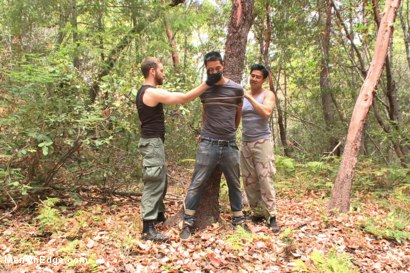 Photo number 1 from Officer Bullet - Ass fucked and edged in the middle of the woods shot for Men On Edge on Kink.com. Featuring Jimmy Bullet in hardcore BDSM & Fetish porn.