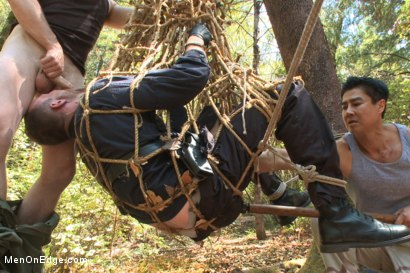 Photo number 7 from Officer Bullet - Ass fucked and edged in the middle of the woods shot for Men On Edge on Kink.com. Featuring Jimmy Bullet in hardcore BDSM & Fetish porn.